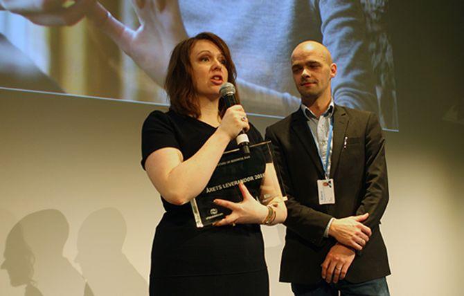 Klarna ble kåret til Årets leverandør.Anna Borg og Erik Kulterud mottok prisen.