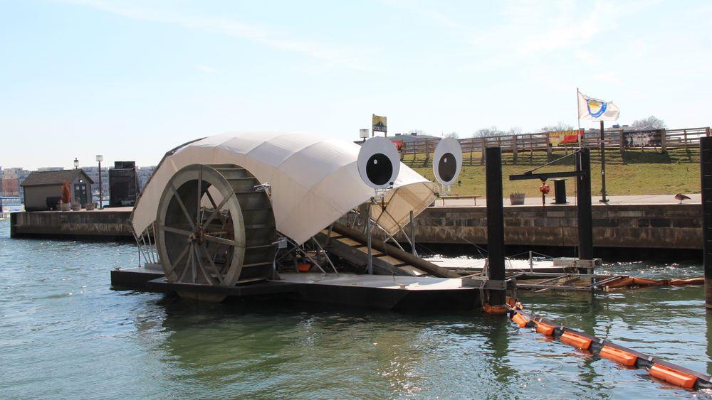 Mr. Trash Wheel: Dette vannhjulet har spist søppel i Baltimores havneområde i snart tre år.