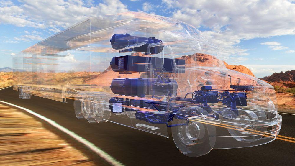 Tunge lastebiler vil stå for over halvparten av det nye hydrogenforbruket i Norge, ifølge DNV GL.