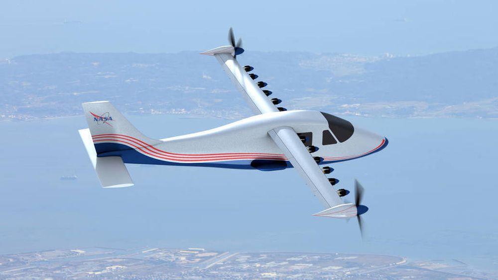 NASA X-57 Maxwell er et eksperimentelt fly som er modifisert til å fly elektrisk med 14 elmotorer. Lignende maskiner kan kanskje trafikkere kortbanenettet i Norge i fremtiden.