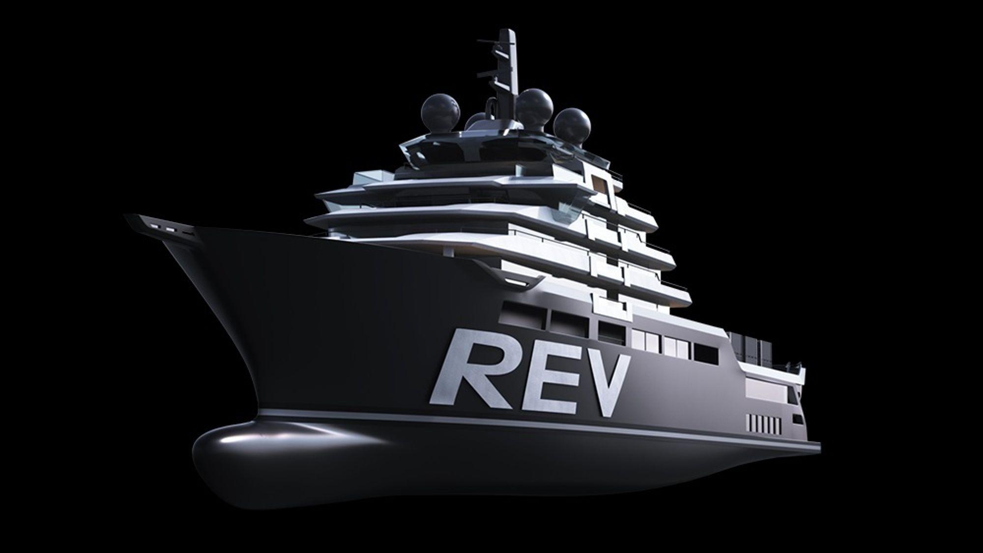 REV får to store stabilisatorfinner. Forskningsutstyr og sensorer plasseres også i to dropp-kjøler for å komme så langt ned at utsyr ikke påvirkes av sjø, bølger og støy fra skrog og propeller.