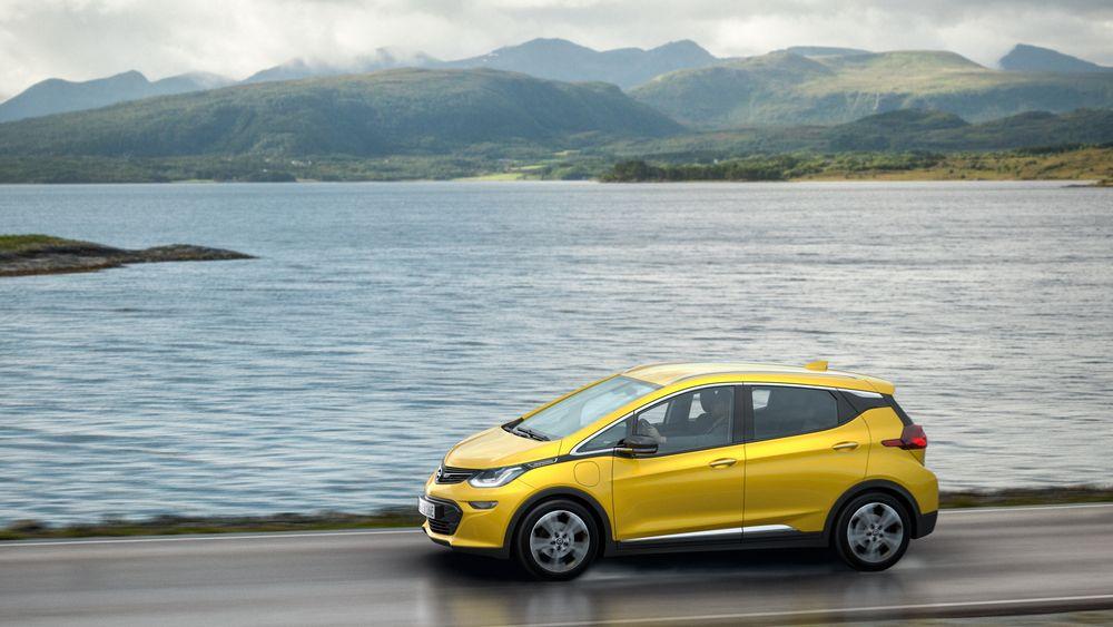 Opel Ampera-e på det første Norges-besøket i fjor. Nå i år hadde bilen europalansering i Norge.