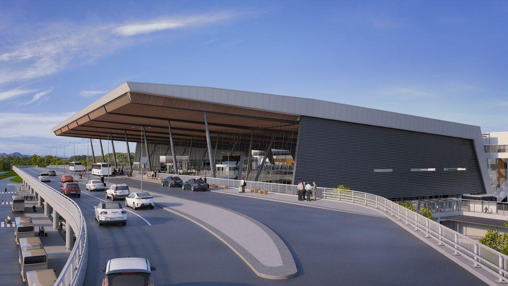 T3-terminalen ved Bergen Lufthavn åpner i august, med et kjøleanlegg som kan lagre 11000 kilowattimer strøm i saltvannsceller.