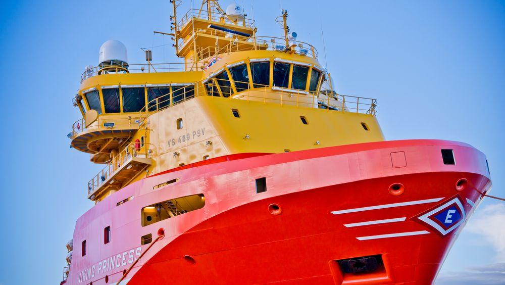 Viking Princess er bygget ved Kleven Verft i Ulsteinvik i 2012. En av fire LNG-motorer er byttet ut med 534kWh batteripakke for hybrid drift. Dette er sannsynligvis skipet Eidevik vil teste med ammoniakkdrift.
