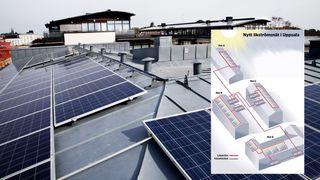 Her kobler de flere bygg sammen i likestrømsnett - dermed får de mer ut av solcellene på taket