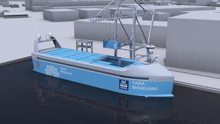 Verdens første autonome skip i drift skal erstatte 40.000 vogntogturer i året