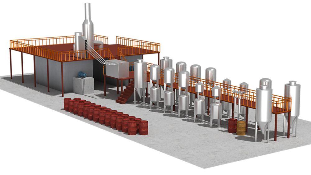 Byggestart: I løpet av noen måneder skal Quantafuel begynne å bygge det nye anlegget på Nes ved Årnes som skal svelge unna 30 tonn plastavfall i døgnet i den nye kontinuerlige prosessen.