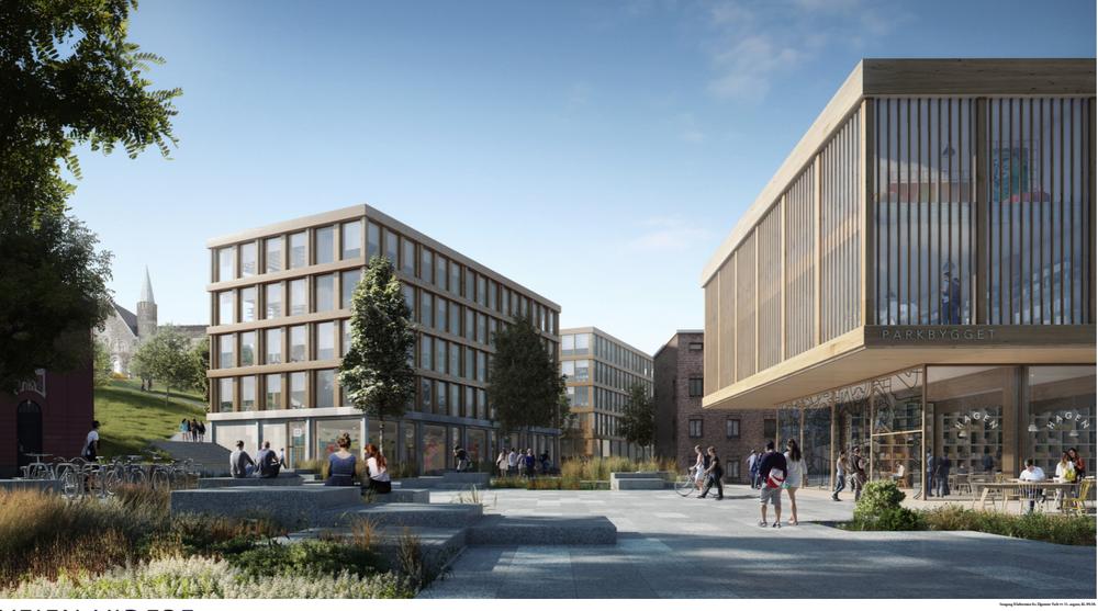 Veien videre er vinnerforslaget i arkitektskonkurransen om nytt NTNU-campus. Det er arkitektene i Koht Arkitekter som står bak bidraget.