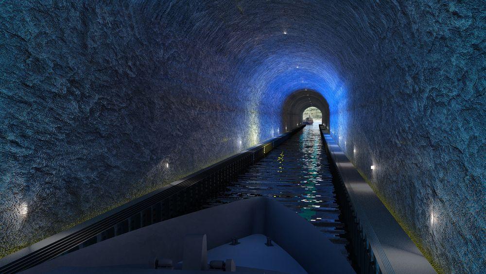 Det vil ta ca. 10 minutter å seile igjennom den 1,7 kilometer lange tunnelen. Skip på inntil ca. 140-150 meters lengde og 23 meters bredde kan bruke den.