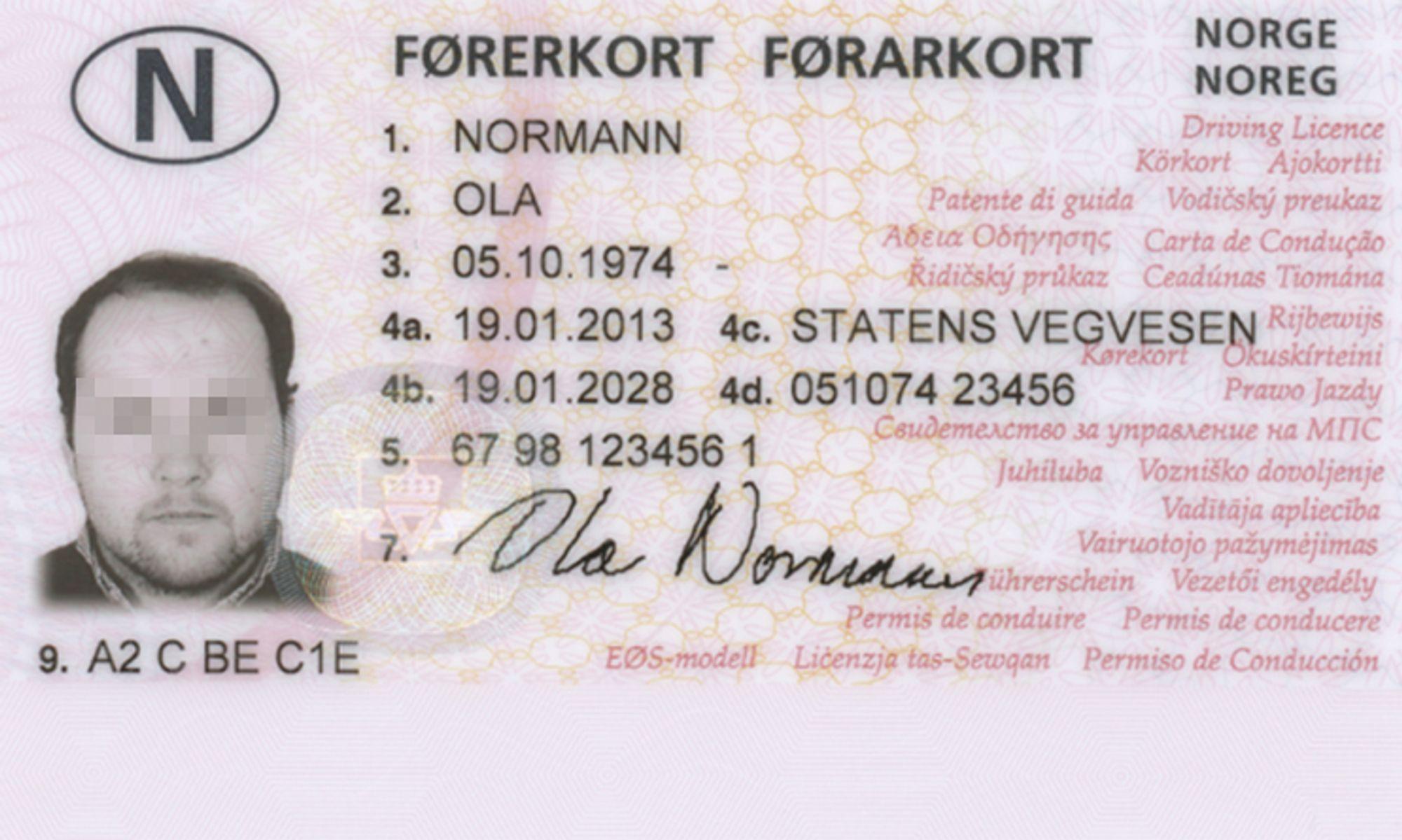 Statens vegvesen førerkort app