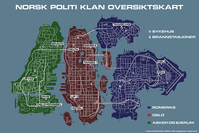 Kart Norsk Politi Klan