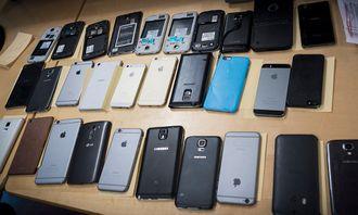 Hele 33 telefoner ble stjålet. Hovedsaklig toppmodeller.