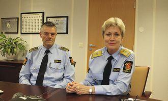 – Det er en lei sak, sier stasjonssjef Ole Hortemo og politimester Kirsten Lindeberg.