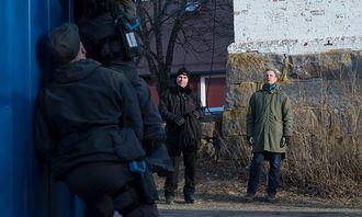 Jeff Oberg og Stefan Hagström fra Säpo følger med på seleksjonen av livvakter.