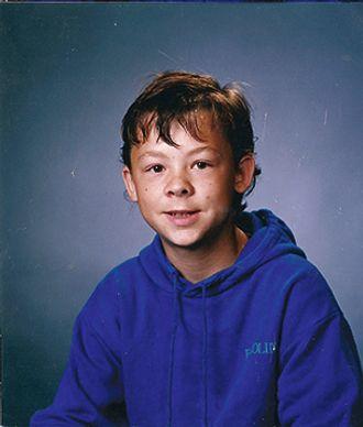 Skoleportrettet av Ernst fra da han var liten.