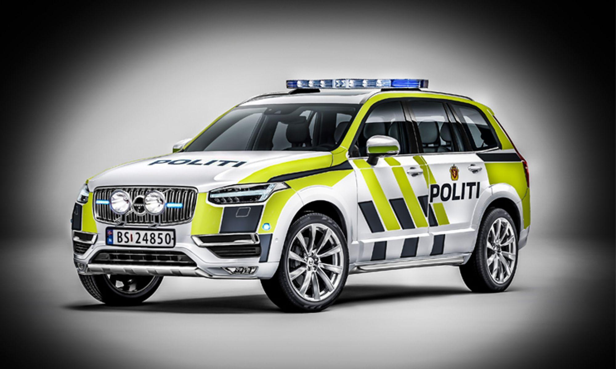 Volvo XC90 med i kampen om å bli politi-SUV - Politiforum.no