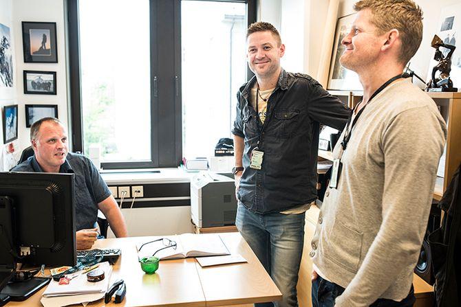 Travle dager: Leder for voldsavsnittet Oscar Lilleås og etterforskerne Hans Martin Gridseth og Lars Eirik Steinsland har lyktes med å oppklare flere store saker på kort tid sammen med resten av distriktet.
