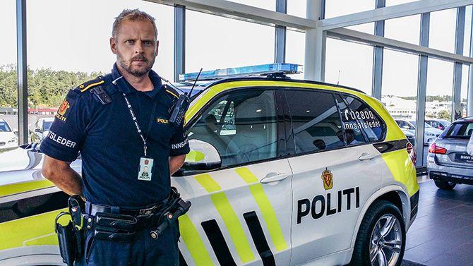 Innsatsleder Tom Einar Gausdal er én av dem som skal bruke den visuelt meget pene X5en i Agder.