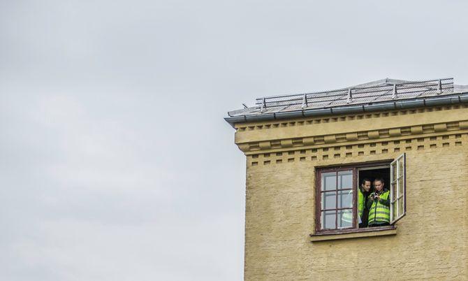 Dø øverste etasjene på Politihøgskolen gir gode muligheter for gode oversiktsbilder.