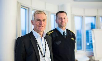 Helge Clem, direktør i PFT, og Nils Skulstad i PFTs kjøretøygruppe.