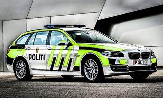 Blir den slik? Politiforum la på uniformering på BMW 520d i fjor.