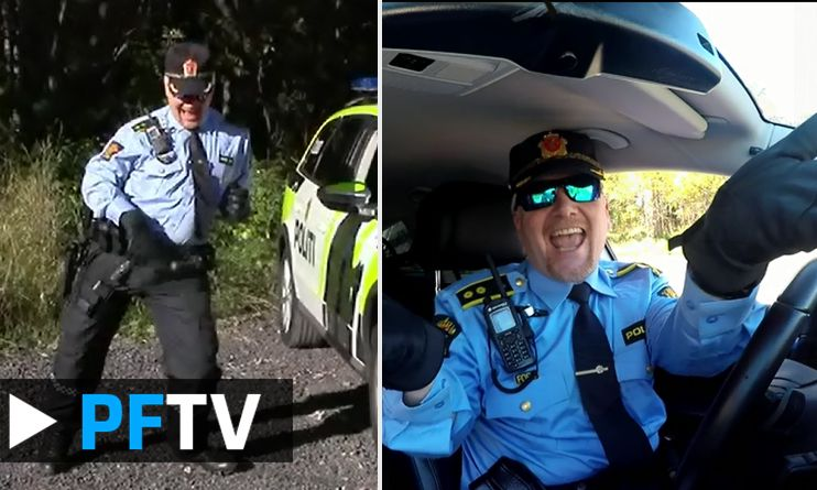 Norwegian police officer Stig is dancing to Rihanna