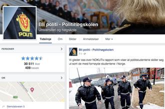 Bli politi – Politihøgskolen er kåret til årets beste Facebook-side
