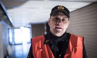 Fornøyd: Hovedverneombud Vegard Kristiansen i Nordland politidistrikt.
