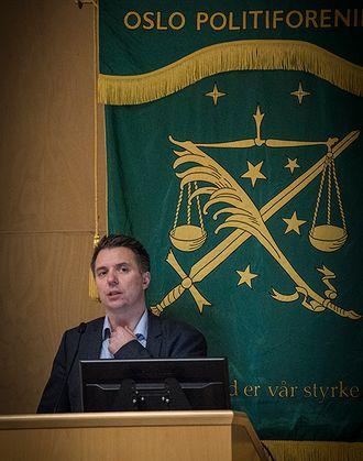 Marius Bækkevar, tidligere lokallagsleder i PF Asker og Bærum, står nå under Oslo politiforenings fane.
