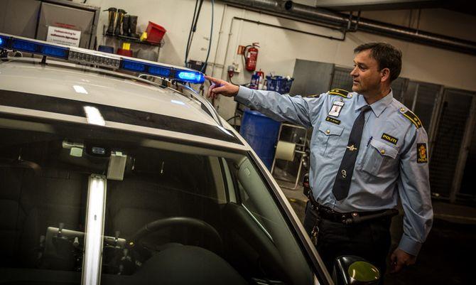 Ordenssjef med Manglerud politistasjon, Morten Østraat, har ekstra stort engasjement for sikkerhetstiltak i bil.