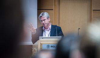 Nick Fyfe, da han snakket til den nordiske politiforskningskonferansen i går.