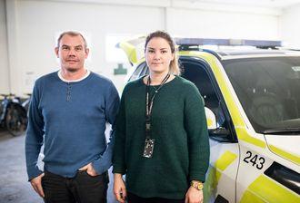 Pål Klevjer og Mari Håvardsrud merker forskjellene på å gå vakter med ubekvem arbeidstid og ikke.