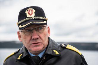 Politidirektør Odd Reidar Humlegård under dagens øvelse.