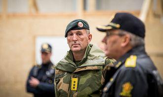 Sjef for Forsvarets operative hovedkvarter Rune Jakobsen under øvelsen i går.
