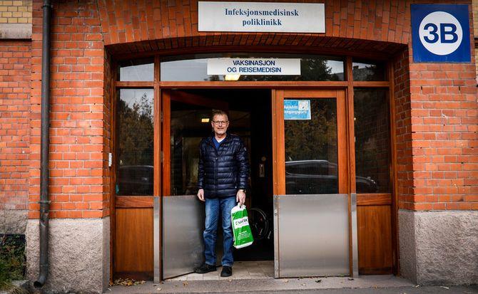 Jevnlig må Knut Lauvrak besøke Oslo universitetssykehus for å få vurdert tilstanden på lungene.