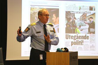 Politidirektør Odd Reidar Humlegård la frem sin endelige beslutning på en pressekonferanse.