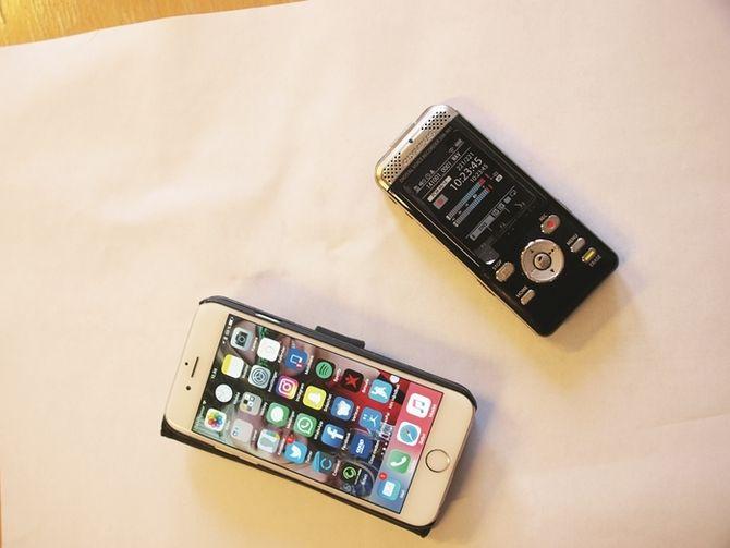 Iphone og lydopptaker er verktøyene som brukes til lydopptak.