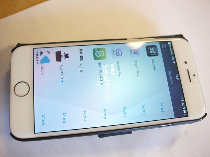 Mobiltelefonene logger ut brukeren etter en viss tid, for sikkerhetens skyld.