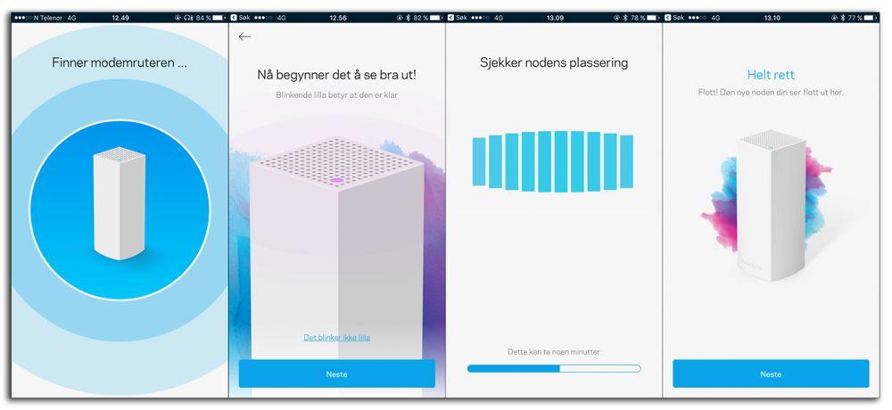 Oppsettet via Velop-appen er veldig enkelt og greit – når du endelig får enheten til å snakke med modemet eller ruteren din.