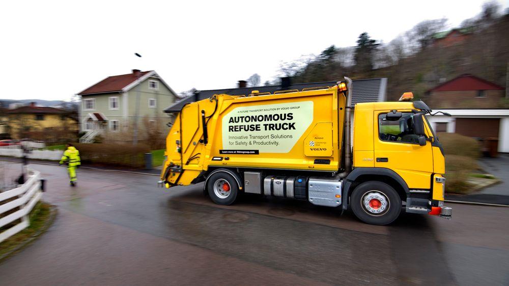 Volvos autonome søppelbil.