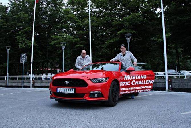 I MÅL: Knut Wilthil og Henrik Borchgrevink kom mykje lenger enn dei trudde på førehand.