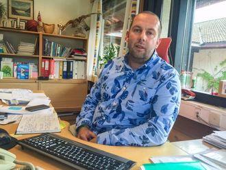 STOLT REKTOR: For Rektor Bjarte Ramstad er dette den største festdagen i skuleåret.