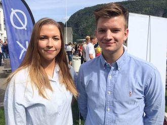 OPTIMISTAR: Dei har enno ikkje funne seg hybel, men er ikkje desperate enno.Wivian Mari Stokke og Einar Rune Dalaker Opsahltrur det ordnar seg til slutt.