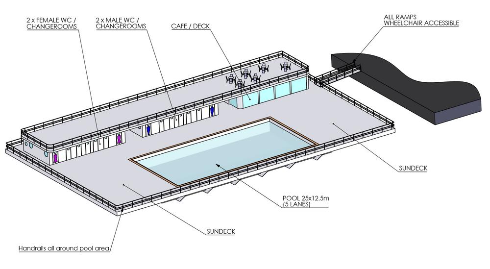 Lite Houses skisse av den kunstige øya som er tenkt plassert på Themsen.