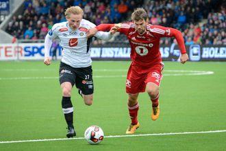 INNSATS: Hard jobbing ligg i botn for dei gode resultata. Her eksemplifisert ved Eirik Birkelund, som bidrog til å springe Rosenborg i senk tidlegare i vår.