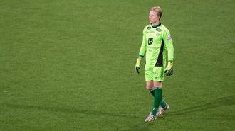 NOK AV TALENT: Førstekeeper Mathias Dyngeland er sjølv berre 20 år gamal. No blir han pusta i nakken av ein utfordrar som er tre år yngre.