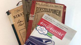 1880:I Noreg har vi hatt trykte telefonkatalogar sidan 1880, då Morgenbladet publiserte ein heilsides annonse med oversikt over alle dei 169 telefonabonnentane i Kristiania og omland.