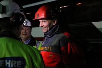 VEMODIG: Sjølv om dei no er gjennom i tunnelen, tykkjer Harald Stadheim det er litt vemodig.