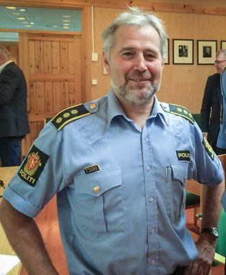 SNART KLAR: Regionlensmann Arne Johannessen seier dei snart er ferdige med etterforskinga av forvinningssaka.