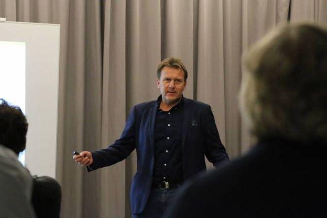 OMDØME: Prosjektleiar i LNU, Jan Petter Vadheim, via mykje tid til omdøme- og marknadsføringsarbeidet i Lerum, der han jobba i 25 år.